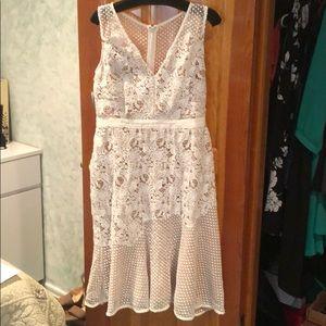 Adeline Rae White Lace Dress size L